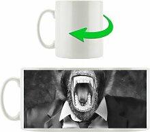 Kaffeebecher Wütender Affe im Anzug