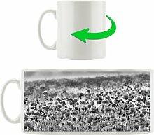 Kaffeebecher Wunderbare Mohnwiese im Sonnenschein