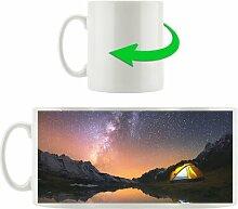 Kaffeebecher Zelten unter tausenden Sternen