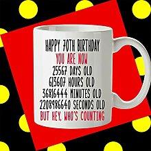 Kaffeebecher zum 70. Geburtstag Geschenk zum 70.