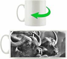 Kaffeebecher Zwei gemütliche Wasserbüffel