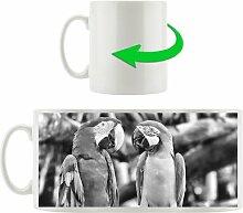 Kaffeebecher Zwei Papageien auf einem Ast