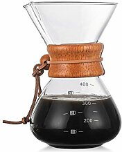 Kaffeebereiter, 400 ml, hitzebeständig, Glas, mit