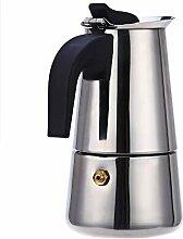 Kaffeebereiter Kanne Edelstahl Mokka Espresso