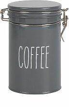 Kaffeedose aus Metall, grau