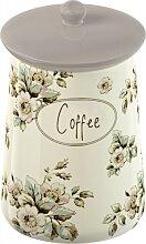 Kaffeedose COFFEE Keramik weiß gemustert 15x10cm Katie Alice Creative Tops (12,95 EUR / Stück)