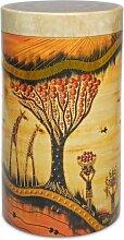 Kaffeedose, Vorratsdose AFRIKA Savanne für je 500g rot rund Metall Eigenart (7,95 EUR / Stück)