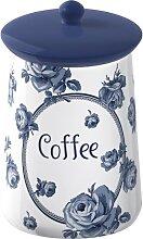 Kaffeedose Vorratsdose COFFEE blau weiß H 16cm D 9cm  Katie Alice Creative Tops (15,95 EUR / Stück)