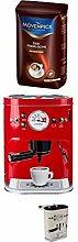 Kaffeedose Vorratsdose rot + Mövenpick Der Himmlische Bohnen 500g