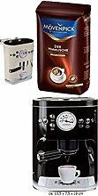Kaffeedose Vorratsdose schwarz + Mövenpick Der Himmlische Bohnen 500g