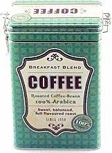Kaffeedose Vorratsdose Vintage, eckig, für 500g, grün