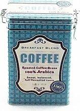 Kaffeedose Vorratsdose Vintage, eckig, für 500g, türkis