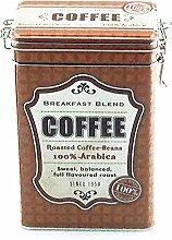 Kaffeedose Vorratsdose Vintage, eckig, für 500g, ziegelro