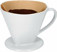 Kaffeefilter No. 4 aus weißem Porzellan | 16.5 x