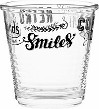 Kaffeeglas aus bedrucktem Glas