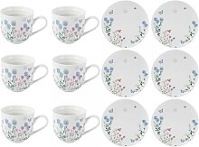 Kaffeeservice 12tlg. für 6 Personen MEADOW BUGS weiß bunt Creative Tops (124,95 EUR / Stück)