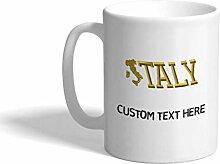 Kaffeetasse, 325 ml, italienisches Alphabet und