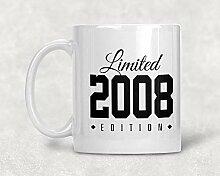 Kaffeetasse für den 10. Geburtstag, limitierte