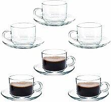 Kaffeetasse Glas Teetasse Cappuccino Tassen