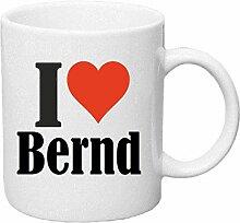 Kaffeetasse I Love Bernd Keramik Höhe 9,5cm ? 8cm