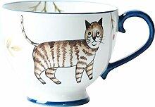 Kaffeetasse im nordischen Stil, Retro, handbemalt,