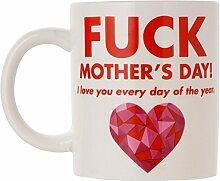 Kaffeetasse & Kaffeebecher als Muttertagsgeschenk – Muttertag Tasse Geschenk & beste Mama Geschenkidee mit lustiger Inschrift in Rot und Schwarz