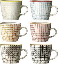 Kaffeetasse Kaffeebecher Carla 6er-Set bunt