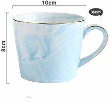 Kaffeetasse Keramik Tasse360 Ml Keramik Marmor