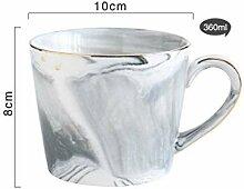 Kaffeetasse Keramik Tasse360Ml Keramik Marmor