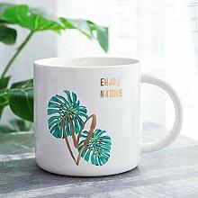 Kaffeetasse Keramik Tassenordic Monstera Deer