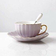 Kaffeetasse Keramikbecher Kit,Keramik lila