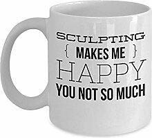 Kaffeetasse Künstler - macht mich glücklich, Sie