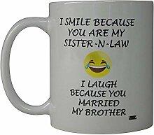 Kaffeetasse Lächeln Schwägerin Verheiratet Mein