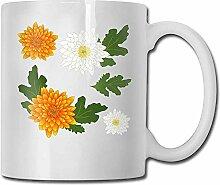 Kaffeetasse Lustige Chrysantheme Weiße