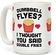 "Kaffeetasse mit Aufschrift ""Hantel Flyes I"