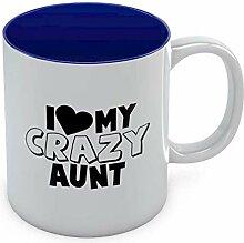 """Kaffeetasse mit Aufschrift """"I Love My Crazy"""