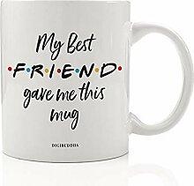 """Kaffeetasse mit Aufschrift """"My Best Friend"""","""