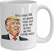 """Kaffeetasse mit Aufschrift """"Trump Son"""","""