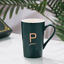 Kaffeetasse mit Deckel Kaffeetasse Grün Brief