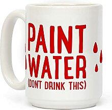 """Kaffeetasse mit der Aufschrift """"Paint Water"""