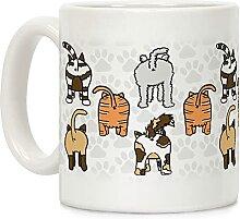Kaffeetasse mit Katzen-Hintern, 325 ml, Keramik,