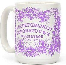 Kaffeetasse mit Ouija-Brett aus Keramik,