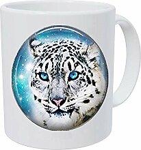 Kaffeetasse mit Schneeleopard und Anhänger aus