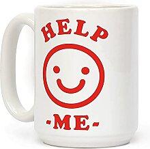 Kaffeetasse mit Smily-Gesicht, 425 ml, Keramik,
