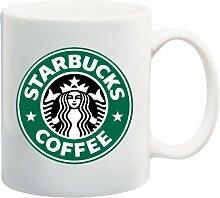 Kaffeetasse mit Starbucks-Logo, Kaffeebecher, 0,32