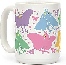 Kaffeetasse mit süßem Pastell-Mottmann-Muster,