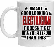Kaffeetasse, Motiv: Elektriker – Smart, Good