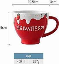 Kaffeetasse Mugs Geschenk Keramik Erdbeer