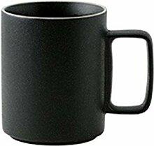 Kaffeetasse Nordic Black Matte Becher mit Deckel