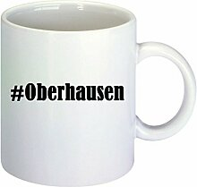 Kaffeetasse #Oberhausen Hashtag Raute Keramik